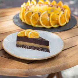čoko oranž parče torte bez šećera