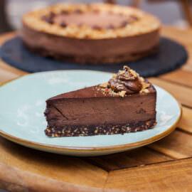čokolada na kvadrat parče torte bez šećera